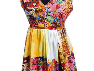 Casual printed dress for ladies..