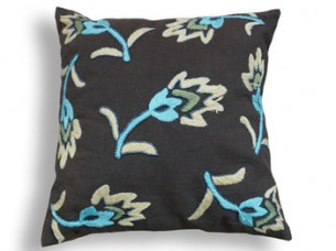 Flower Design Embroidery Cushion..