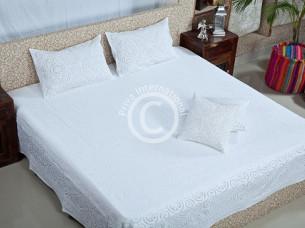Handmade Patchwork Cutwork Bedding Set..