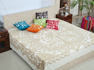 Cotton Rajasthani Jaipuri Printed Bed Sheet..