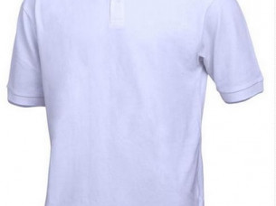 Men Short Sleeve White Polo Neck T Shirt..