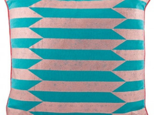 Stripes Printed Polyester Cushion Cover..