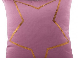 Designer Star Embroidered Cushion Cover..