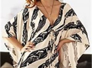 Ladies Printed Poncho..