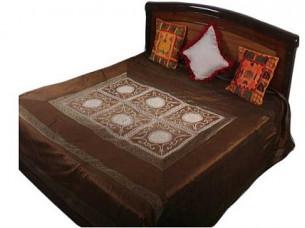 Gorgeous Colourful  Luxury Silk Bedspread..