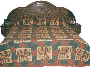 Indian Luxurious Traditional  Fine Handmade Bedspread Bedl..