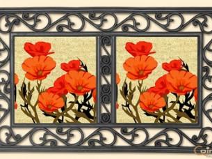 Flower Insert in Rubber Tray Mat..