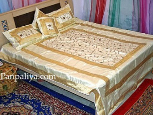 Designer Indian Style Luxury Silk bedspreads..