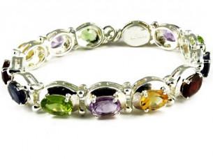 Stunning Multi Colour 925 Sterling Silver Bracelet..