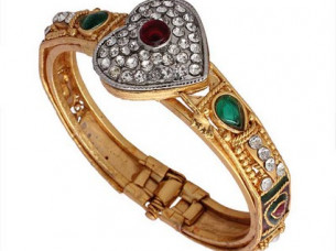 Multi Gold Plated Austrian Diamond Bangle..