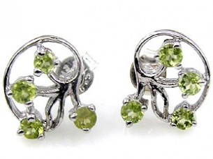 Genuine sterling silver earring peridot studded in 925 ste..