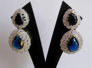 Beautiful Blue Cubic Zirconia Fashion Earring..