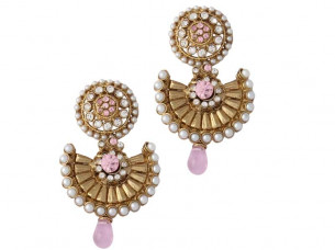 Pink Pearl Traditional Fashion Earrings..