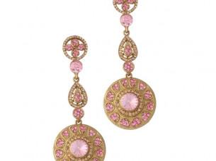 Pink Gold Plated Austrian Diamond Fashion Earrings..