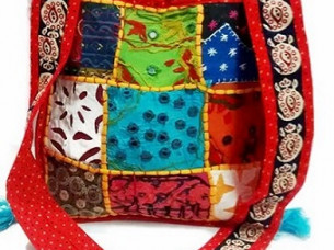 Designer Hand Bags Ethnic Embroidery Cotton Hand bag..
