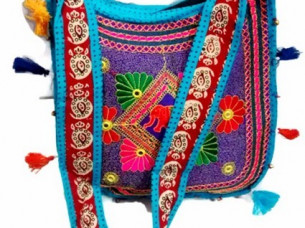 Handmade Ethnic Embroidery Floral Pattern Shoulder Bag..