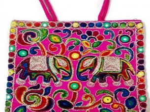 Stylish Elephant Embroidery Shoulder Hand bag..