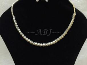 American Diamond String Necklace..