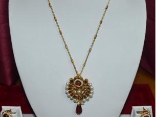 Imitation Jewelry Necklace Pendant Set India Manufacturers..