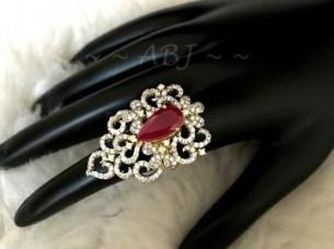 CZ American Diamond Cocktail Ring..