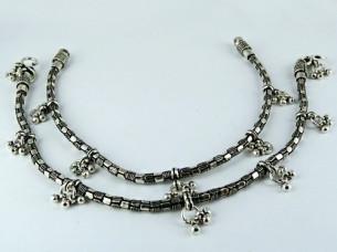 Forever Design of Oxidized 925 Sterling silver Anklet..