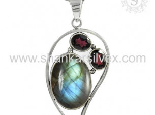 Special Design Gemstone Jewelry Pendant 925 Sterling Silve..