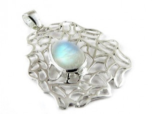 Passion Light Natural Rainbow Moonstone 925 Sterling Silve..