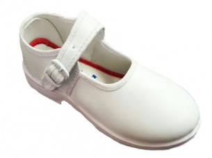 Girls White School Dress Shoes..