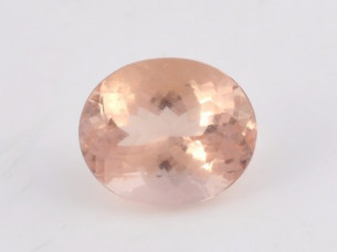 High Quality Natural oval cut peach morganite gemstones..