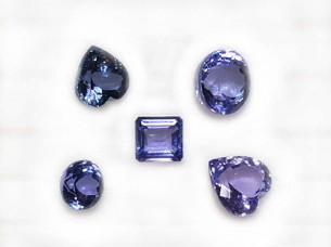 AA quality mix shape natural tanzanite gemstone..