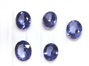 AA quality oval cut tanzanite stones..