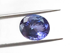 AA oval natural tanzanite semi precious stone..