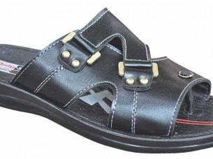 Black Mens Slippers Footwear..