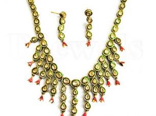 Kundan Polki Gold Necklace..