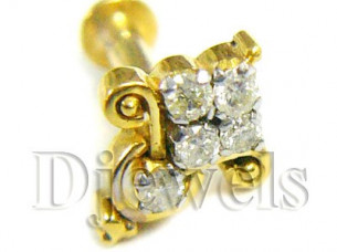 Gold Diamond Nose Pin Nose Studs..