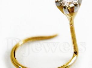 14k Gold Certified Diamond Nose Pin Jewelry..