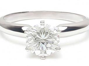 0.50Ct Diamond Engagement Ring in 14k White Gold..