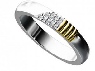 14 k gold Diamond Mens Engagement Ring..