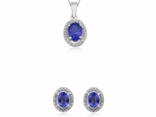 Fancy White topaz tanzanite stones 925 silver women pendan..
