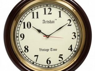 Artshai 16 inch Antique look Wall Clock big numbers and Br..