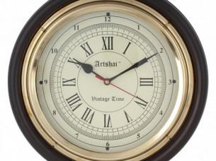 Artshai Antique look 12 inch beautiful Wall Clock, Brass a..