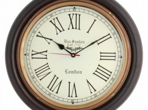Artshai Antique Look Silent Wall Clock. 16 Inch Big Size W..