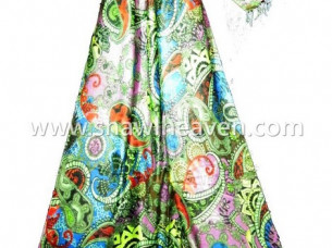 Digital printed fashion scarf..