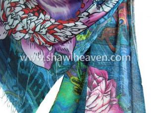 Pure Viscose Digital Printed Scarves..