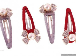 FLOWER SHAPE PARTYWEAR HAIR PIN COMBO WHA45..