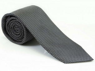 Mens Party Wear Black White Necktie Polyester MA14A..