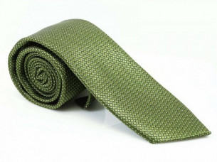 Mens Necktie Green Olive Polyester Suit Accessories MA12A..