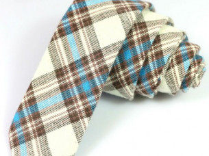 Newest 100% Cotton Men Skinny Neckties..