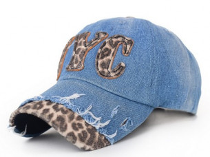 Leopard Letter Printed Women Casual Caps..