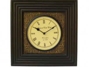 Wooden Square Wall Clock in Antique Look..